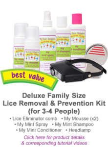Deluxe Family Size Lice Removal and Prevention Kit (3-4 People)